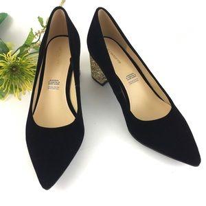 Liz Claiborne Brayden Glitter Heels   Sz  8.5M